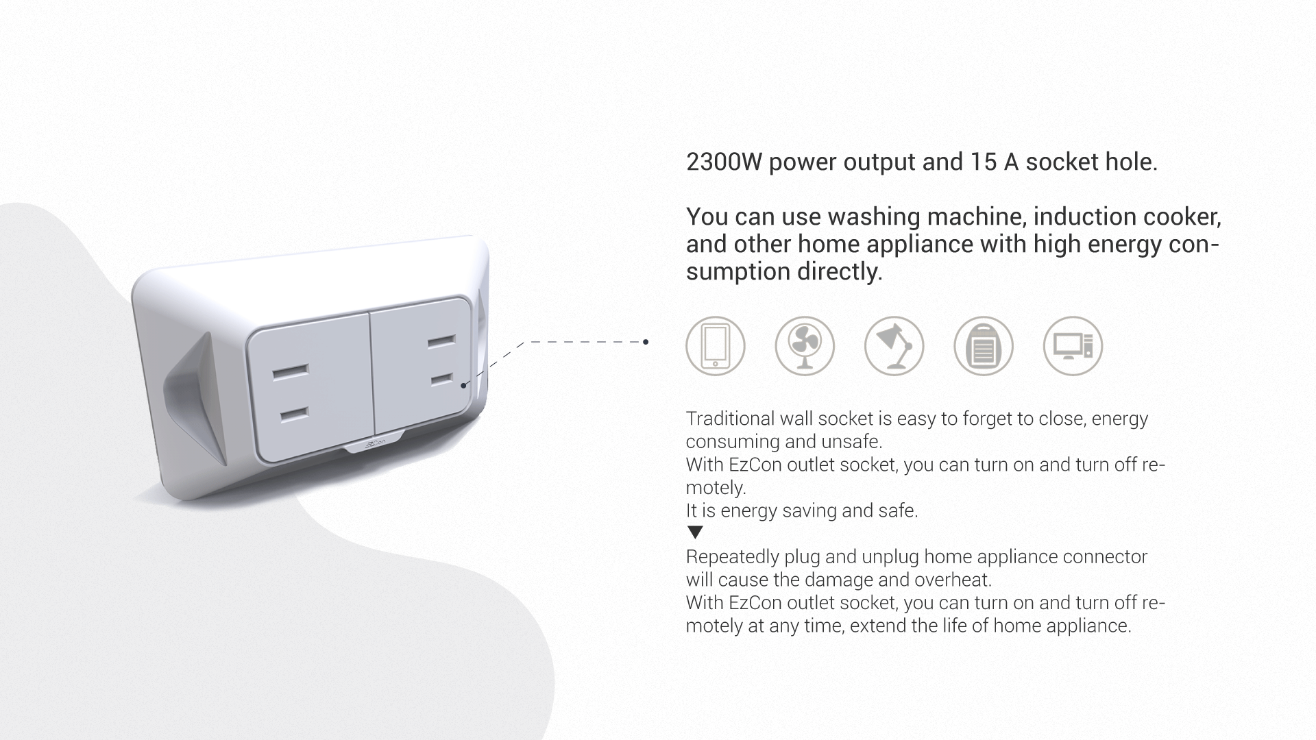 More convenient to use. No need to unplug power cord every time.