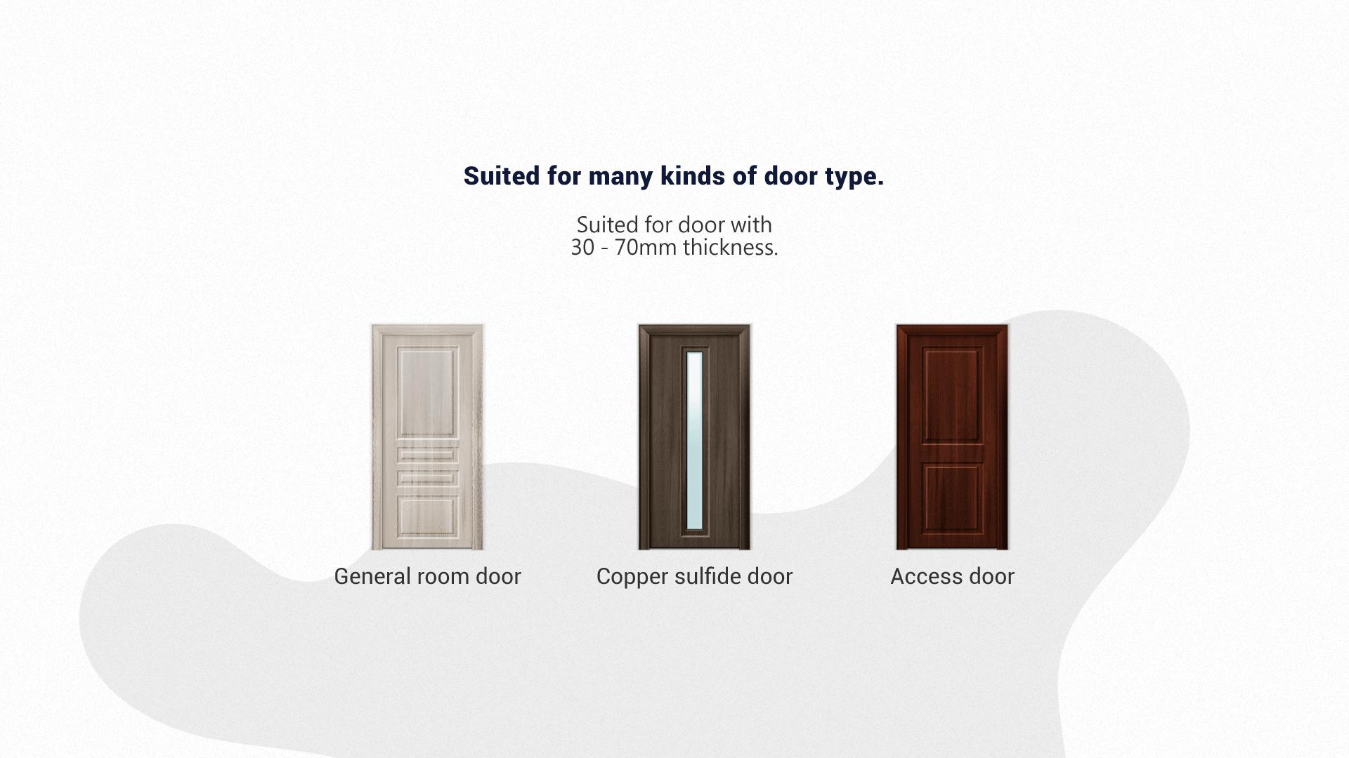 No Key hole design, Anti-theft.