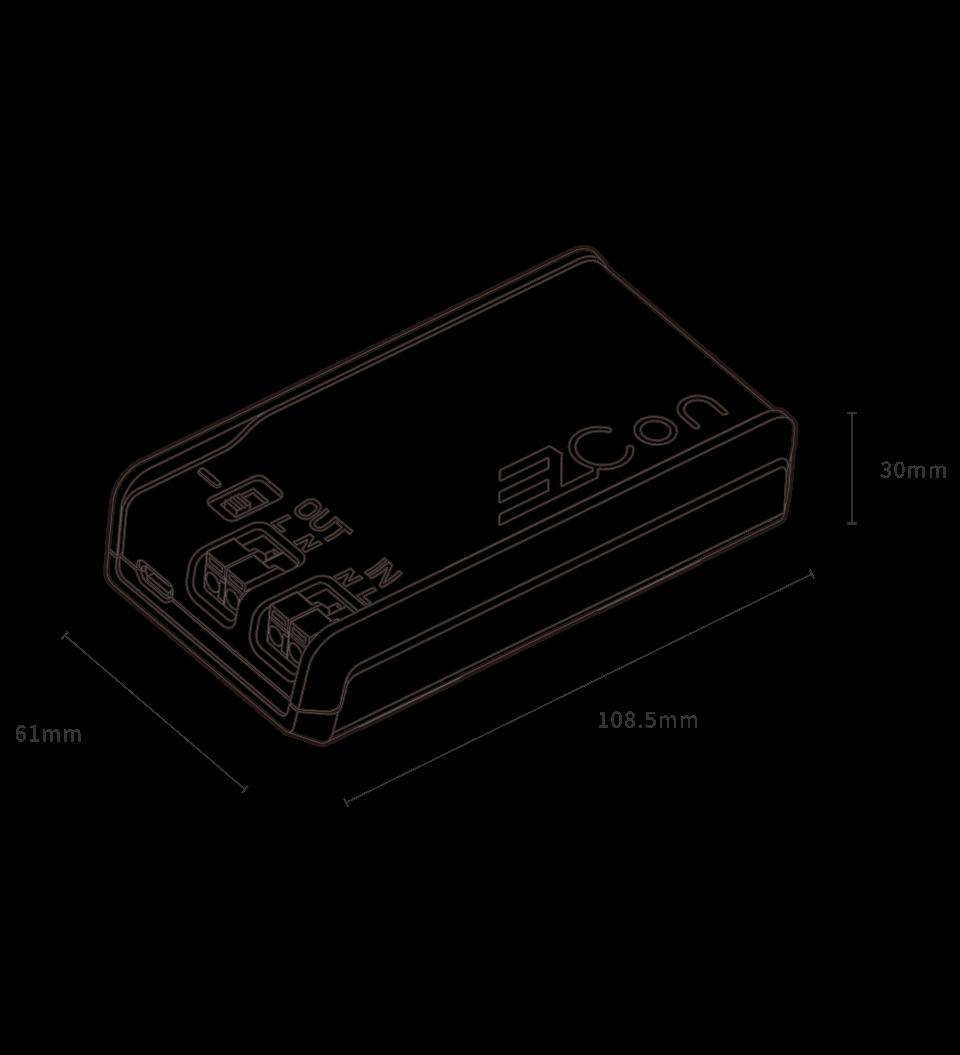 精密电流防过载2A电源开关(可调光) - 产品规格