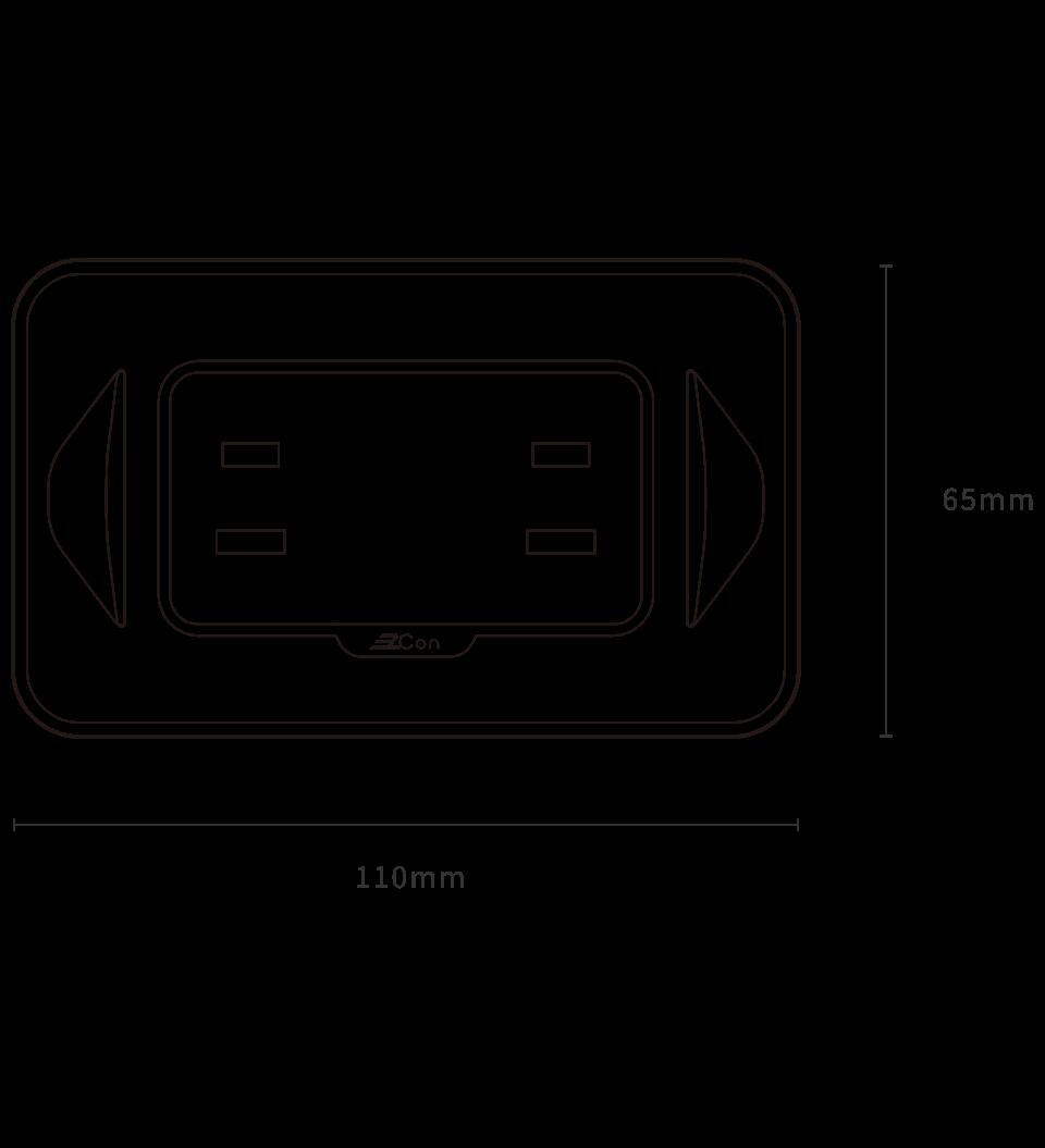 精密电流防过载双孔墙壁插座 - 产品规格