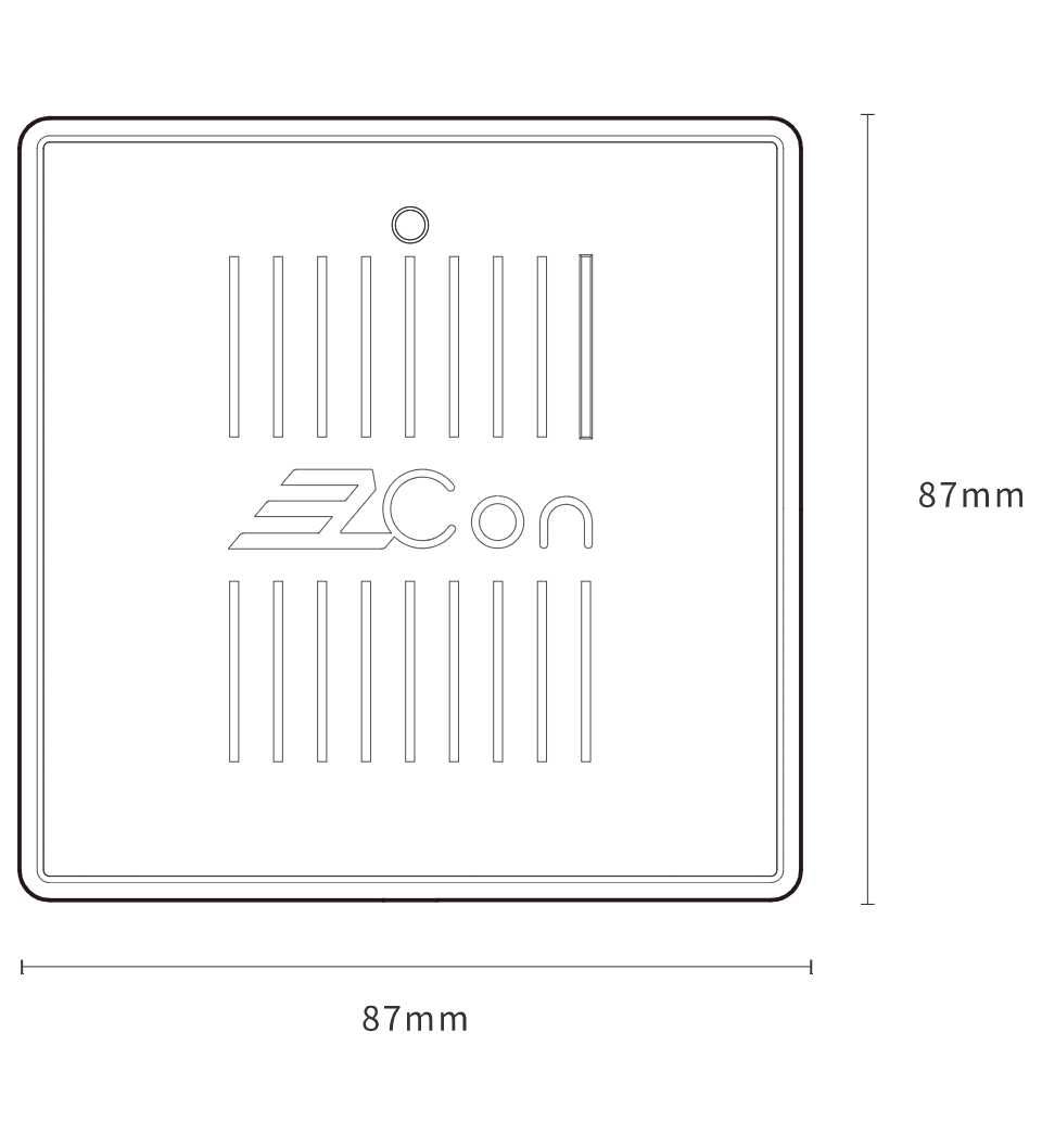 AC input E-Curtain Controller with AC connector - Specifications